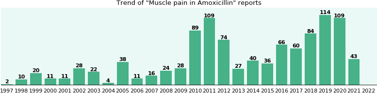 Could Amoxicillin cause Muscle pain?